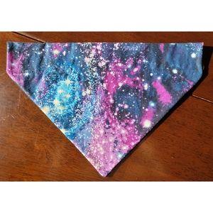 Handmade Dog Collar Galaxy Bandana